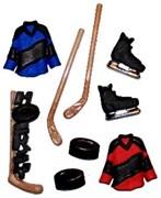 Набор пуговиц  Хоккей
