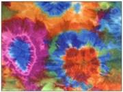 Фельт с рисунком 60s Tie Dye