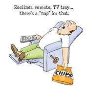 Набор штампов  Уснул: телевизор