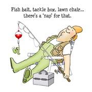 Набор штампов  Уснул: рыбалка