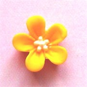 Кабошон  Цветок желтый