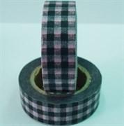 Бумажная клейкая лента  Розово-черный