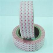 Бумажная клейкая лента  Розовый горох