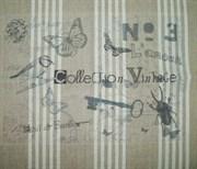 Ткань-купон Vintage полоска