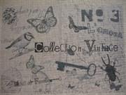 Ткань-купон Vintage натур