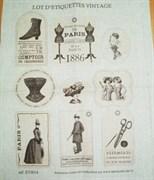 Ткань-купон Винтажные ярлычки