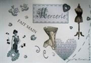 Ткань-купон Mercerie Fait Main беж