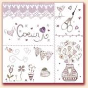 Ткань-купон Coeur 25х25