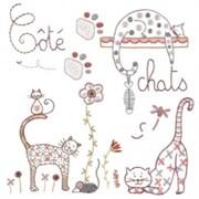 Ткань-купон Chat 25х25