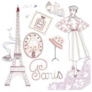 Ткань-купон Paris 24х24