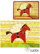 Набор текстильная открытка «Лошадка. День»