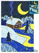 Набор текстильная открытка «Лунная ночь»