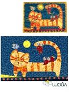 Набор текстильная открытка «Котовасия»