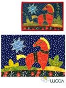 Набор текстильная открытка «Лошадка. Ночь»