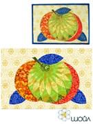 Набор текстильная открытка «Яблочки 1»
