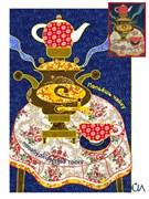 Набор текстильная открытка «Попьешь чайку»