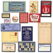 Винтажные карточки Vintage