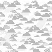 Оверлей лист  RAIN CLOUDS silver