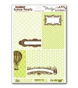 Оверлей лист  JOURNAL CARDS lime & brown