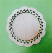 Тарелочка с резным краем ( два кольца) 15см. 4 мм.
