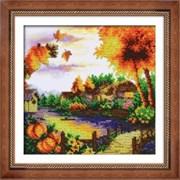 Набор для вышивки бисером  Осенний пейзаж