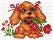 Рисунок на канве  Мой щенок