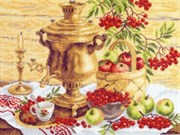 Рисунок на канве  Русский колорит