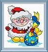 Набор для вышивания  М.П. Студия   Дед Мороз
