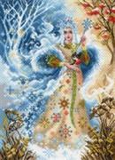 Рисунок на канве  Волшебница зима