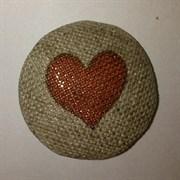 Пуговица  Сердце  d 32 мм