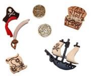 Набор пуговиц  Пираты