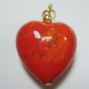 Подвеска Сердце большое красное