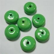 Бусина круглая Светлозеленая