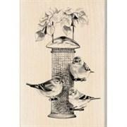 Штамп на деревянной основе Кормушка для птиц