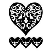 Трафарет большой  Роскошное сердце