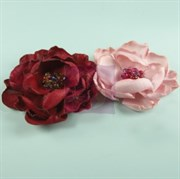 Цветы из ткани с бисером (Prima Marketing Inc)
