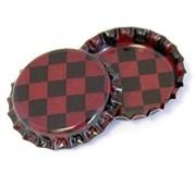 Пробка металлическая  Красные шашечки  (Bottle Cap Inc)