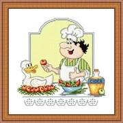 Набор для вышивания  Утка с яблоками
