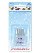 Иглы для бытовых швейных машин  Gamma  №100 универсальные 5 шт.
