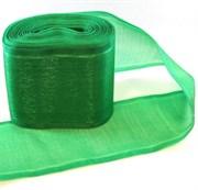 Лента капроновая для бантов зеленая