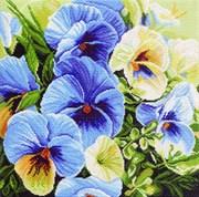 Рисунок на канве  Голубые россыпи
