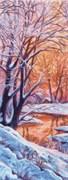 Рисунок на канве  Зимний вечер
