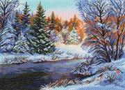 Рисунок на канве  Мороз и солнце