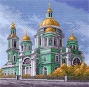 Рисунок на канве  Елоховский собор в Москве