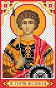 Рисунок на шелке  Св. Георгий Победоносец