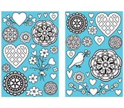 Контуры Сердца и цветы