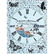 Рисовая бумага для декупажа  Часы с бабочками