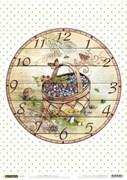 Рисовая бумага для декупажа  Часы: Корзинка