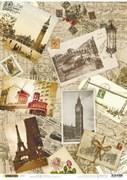 Рисовая бумага для декупажа  Путешествие по Европе