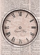 Рисовая бумага для декупажа  Часы: Старый город
